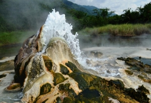 hot springs in Semuliki National Park