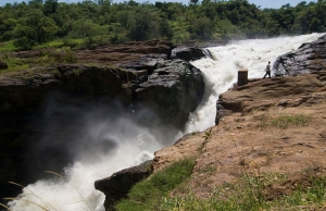 Top of the falls Murchison Falls National Park