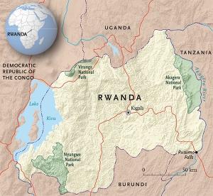 Rwanda National Parks Map